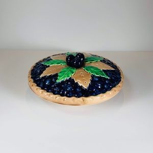 Blueberry Pie Plate Decorative